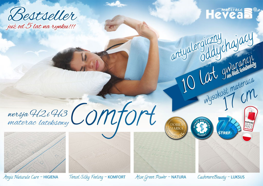 Comfort 7 polowy materac lateksowy baner